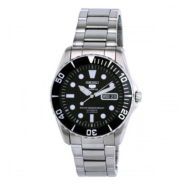 Seiko Men's SNZF17K1 5 Sports Silvertone Automatic Watch ...