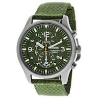 Seiko Men's SNDA27P1 Chronograph Green Watch