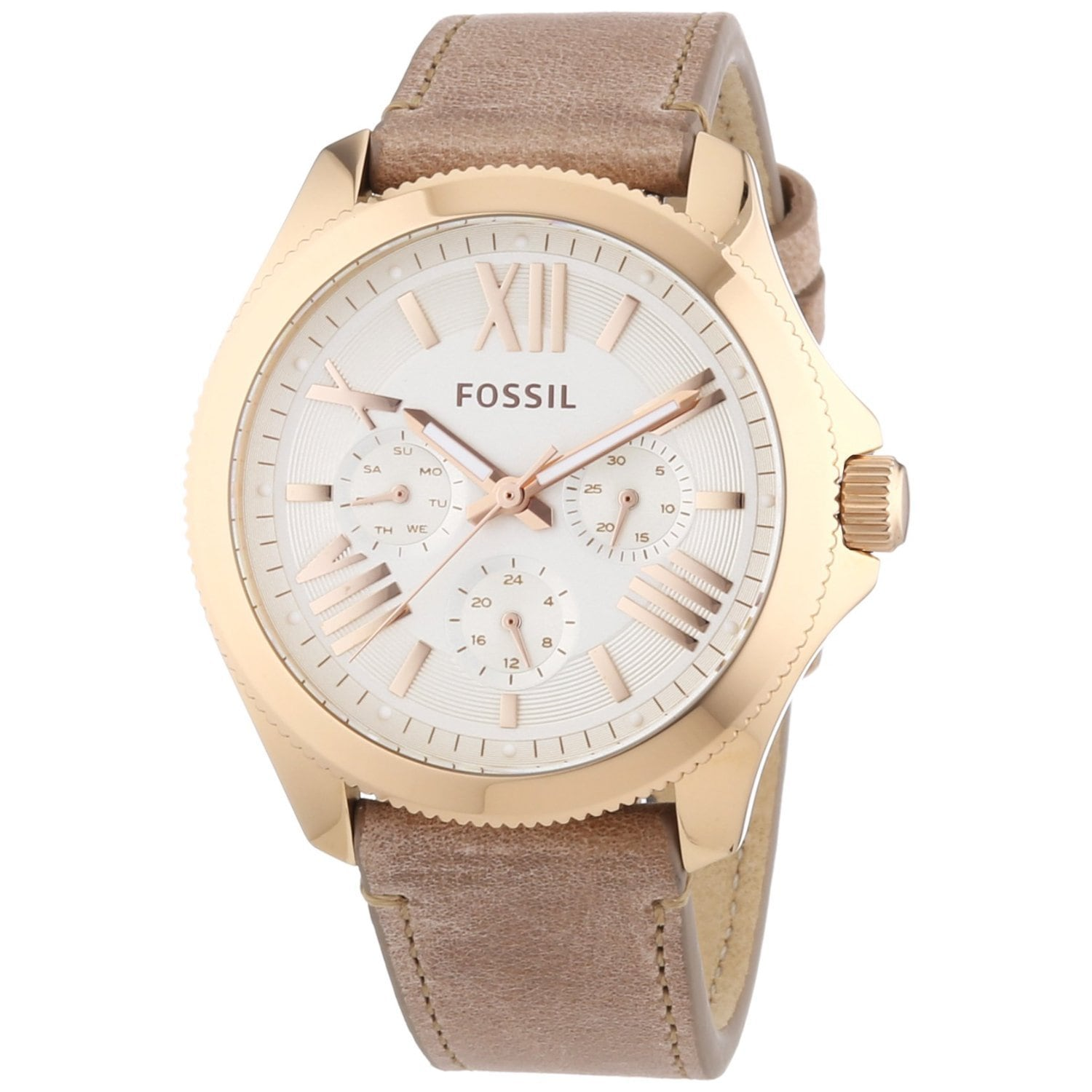 Fossil Women's AM4532 Cecile Rose Gold Watch (Ivory), Off...