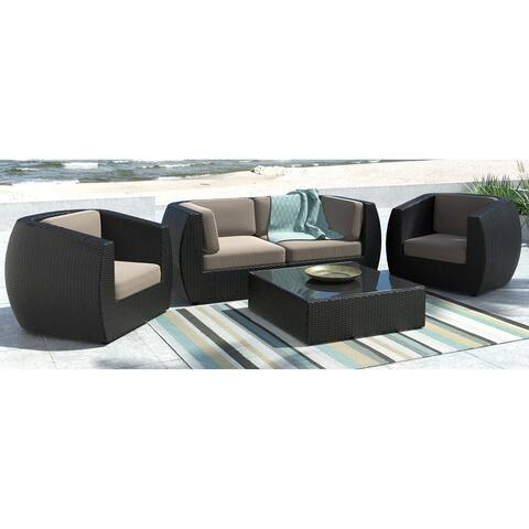CorLiving Seattle Curved 5-piece Sofa and Chair Patio Set