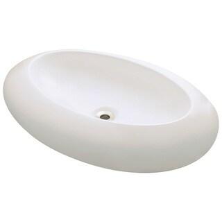 Polaris Sinks P08VB Bisque Oval Porcelain Vessel Sink