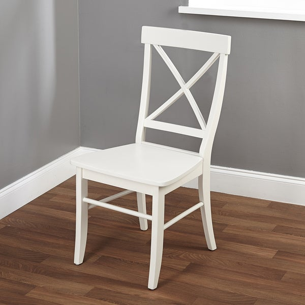 Simple Living Easton Antique White Cross-back Chair - N/A - Simple Living Easton Antique White Cross-back Chair - N/A - Free