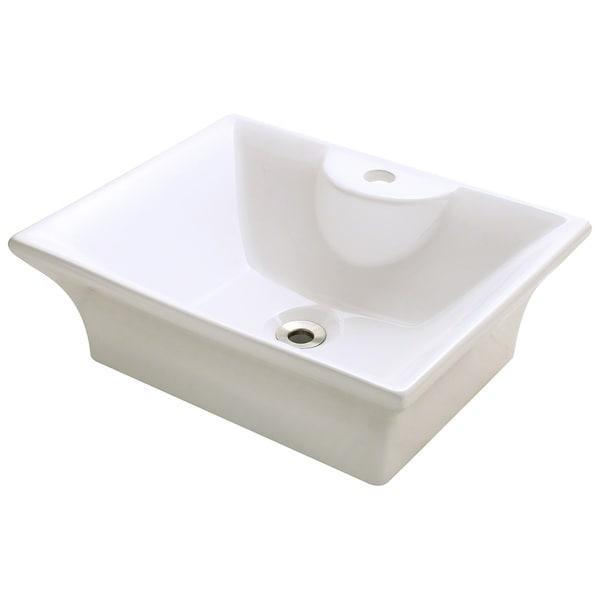 Polaris Sinks P051VB Bisque Porcelain Vessel Sink Free