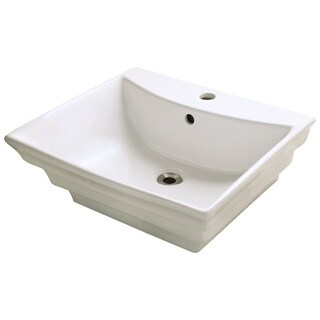 Polaris Sinks P061VB Bisque Porcelain Vessel Sink
