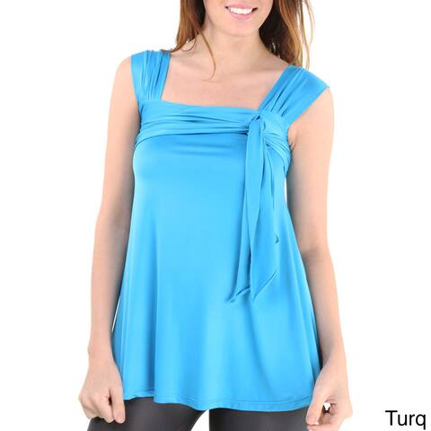 24/7 Comfort Apparel Women's Side-tie Tunic Tank Top