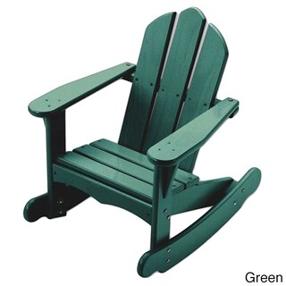 Little Colorado Child's Adirondack Rocking Chair (Option: Green - Painted)