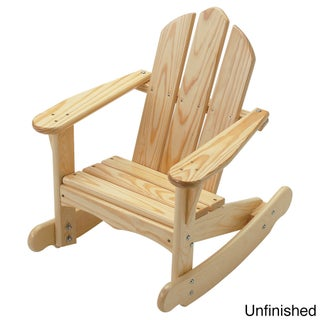 Little Colorado Child's Adirondack Rocking Chair (Option: Uned - Natural Finish)