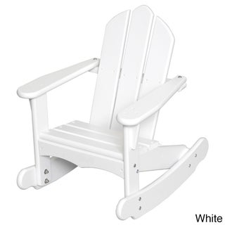 Little Colorado Child's Adirondack Rocking Chair (Option: White - Painted)