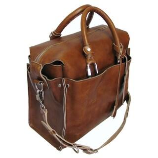 Amerileather Holmes Investigator Leather Briefcase Tote