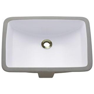 Link to Polaris Sinks P3191UW White Rectangular Undermount Porcelain Bathroom Sink Similar Items in Sinks