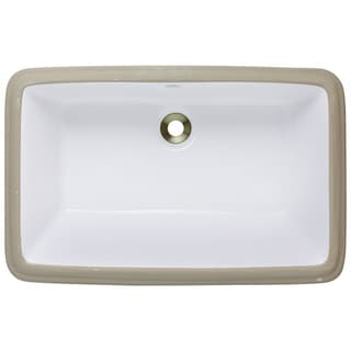 Polaris Sinks P2181UB Bisque Undermount Porcelain Bathroom Sink