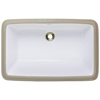 Polaris Sinks P2181UB Bisque Undermount Porcelain Bathroom Sink