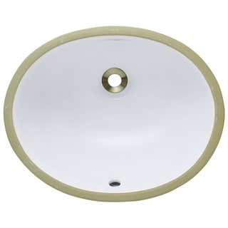 Polaris Sinks PUPSW White Porcelain Bathroom Sink