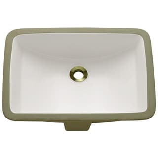 Polaris Sinks P3191UB Bisque Rectangular Undermount Porcelain Bathroom Sink