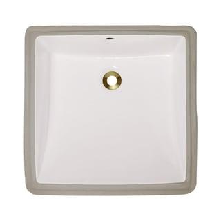 Polaris Sinks P0322UB Bisque Undermount Porcelain Bathroom Sink