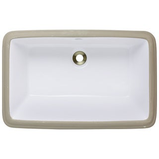 Polaris Sinks P2181UW White Undermount Porcelain Bathroom Sink