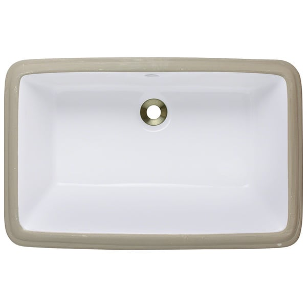 Polaris Sinks P2181UW White Undermount Porcelain Bathroom Sink - Free ...