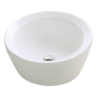 Polaris Sinks P091VB Bisque Porcelain Vessel Sink