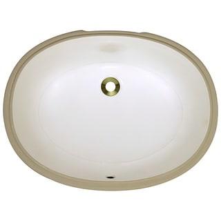 Polaris Sinks PUPLB Bisque Undermount Porcelain Bathroom Sink