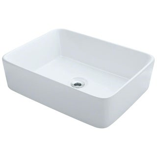 Polaris Sinks P041VW White Porcelain Vessel Sink