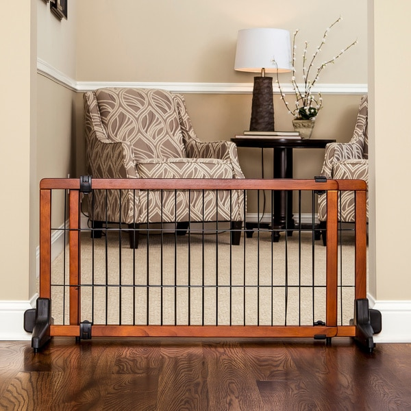wooden pet gate build carlson freestanding wooden pet gate shop free shipping today