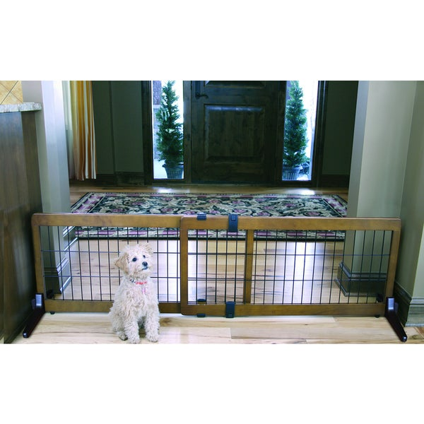 Carlson Free Standing Wooden Pet Gate 16212154