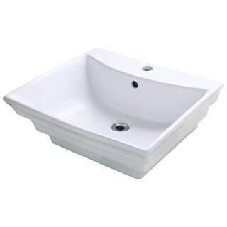 Polaris Sinks P061VW White Porcelain Vessel Sink
