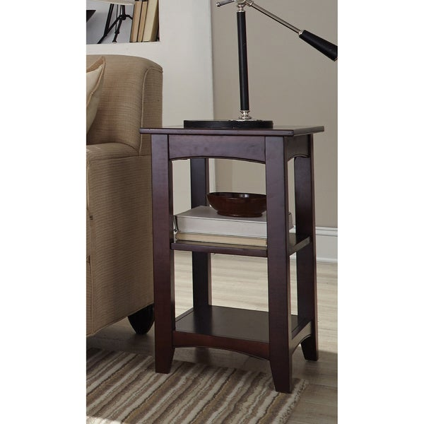 Fair Haven 2 Shelf Wood End Table