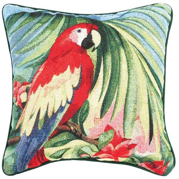 Manual Woodworkers Macaw 17-inch Tapestry Pillow