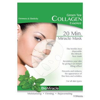 BioMiracle Anti-aging Moisturizing Green Tea Face Masks (Pack of 5)
