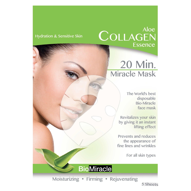 BioMiracle Anti-aging Moisturizing Aloe Face Masks (Pack ...