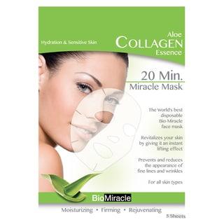 BioMiracle Anti-aging Moisturizing Aloe Face Masks (Pack of 5)