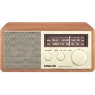Sangean FM / AM Analog Wooden Cabinet Receiver