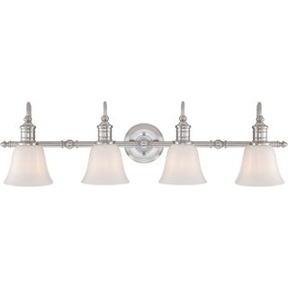 Broadgate Brushed Nickel Finish 4-light Bath Fixture