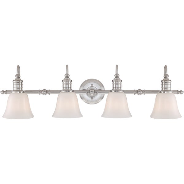 bathroom light fixtures brushed nickel finish quoizel broadgate brushed nickel finish 4 light bath 24901