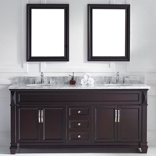 Shop Virtu Usa Victoria 72 Inch Espresso Double Round Sink Vanity Set Free Shipping Today