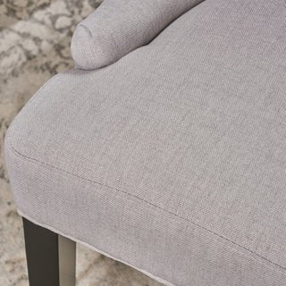Christopher Knight Home Hayden Tufted Fabric Dining/ Accent Chair (Set of 2) by  (Light grey)