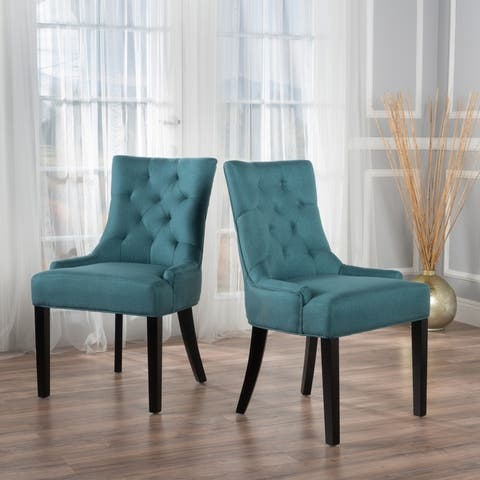 Cheney Contemporary Tufted Dining Chairs (Set of 2) by Christopher Knight Home