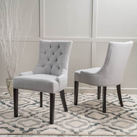 Hayden Tufted Dining Chair Set (Set of 2) by Christopher Knight Home