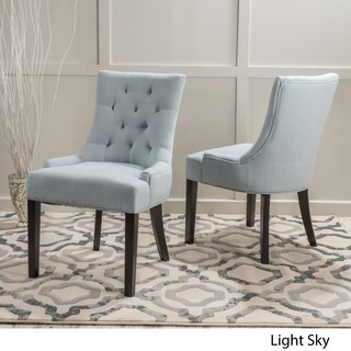 Hayden Tufted Fabric Dining/ Accent Chair (Set of 2) by Christopher Knight Home (2 options available)