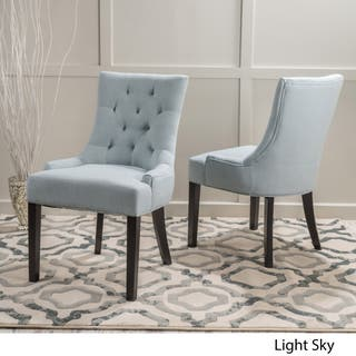 blue dining room chairs. Hayden Tufted Fabric Dining  Accent Chair Set of 2 by Christopher Knight Home Blue Kitchen Room Chairs For Less Overstock com