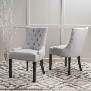 Hayden Tufted Fabric Dining/ Accent Chair (Set of 2) by Christopher Knight Home
