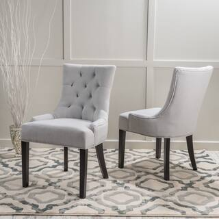 Hayden Tufted Fabric Dining/ Accent Chair (Set of 2) by Christopher Knight Home|https://ak1.ostkcdn.com/images/products/9010691/P16212984.jpg?impolicy=medium