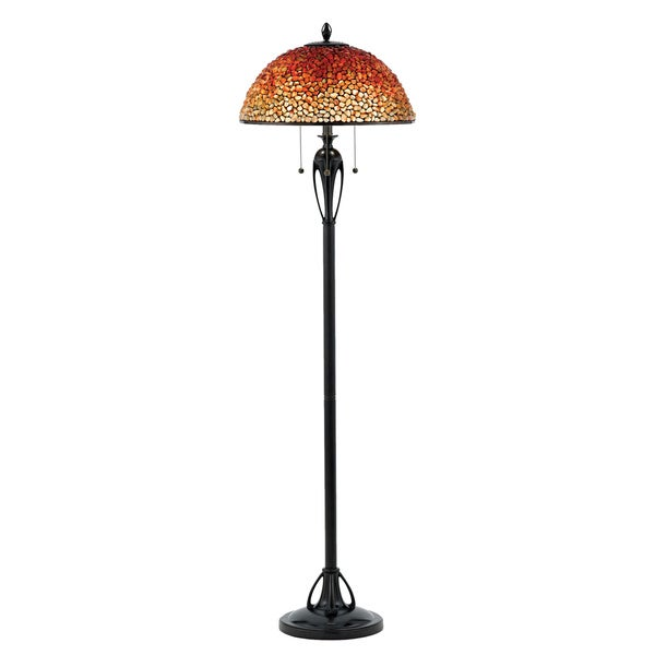 Quoizel Cambridge Pomez Burnt Cinnamon Finish Floor Lamp