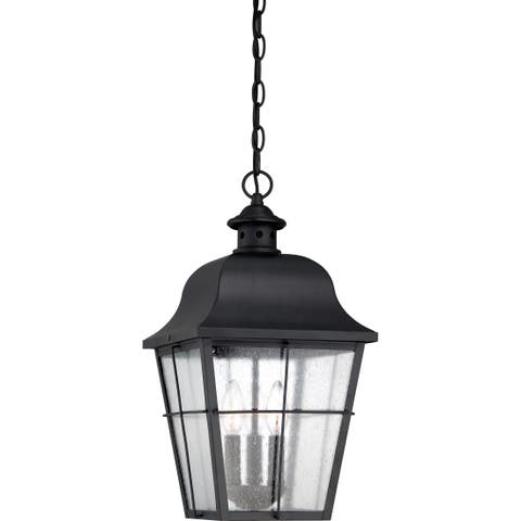Millhouse with Mystic Black Finish, Large Hanging Lantern