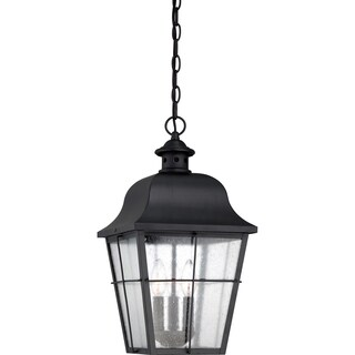 Quoizel Millhouse with Mystic Black Finish, Large Hanging Lantern