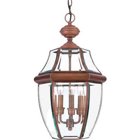 Copper Grove Zavet Large Aged Copper Hanging Lantern