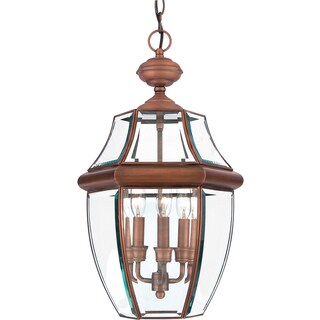 Quoizel Newbury Aged Copper Finish Large Hanging Lantern