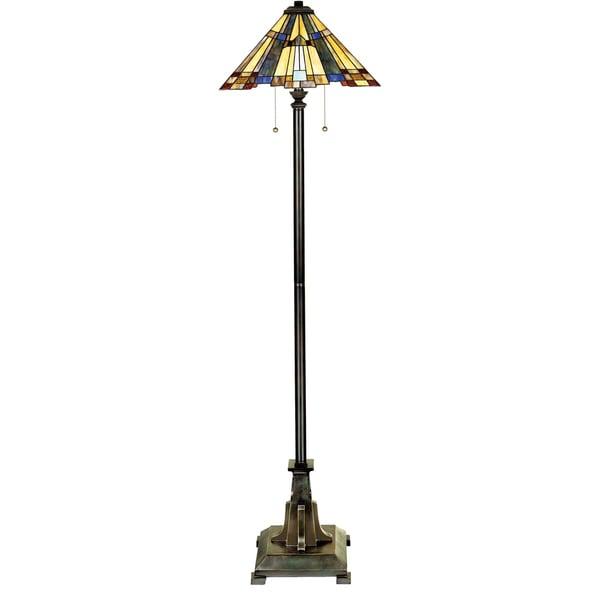 Quoizel Inglenook 2-light Valiant Bronze Floor Lamp
