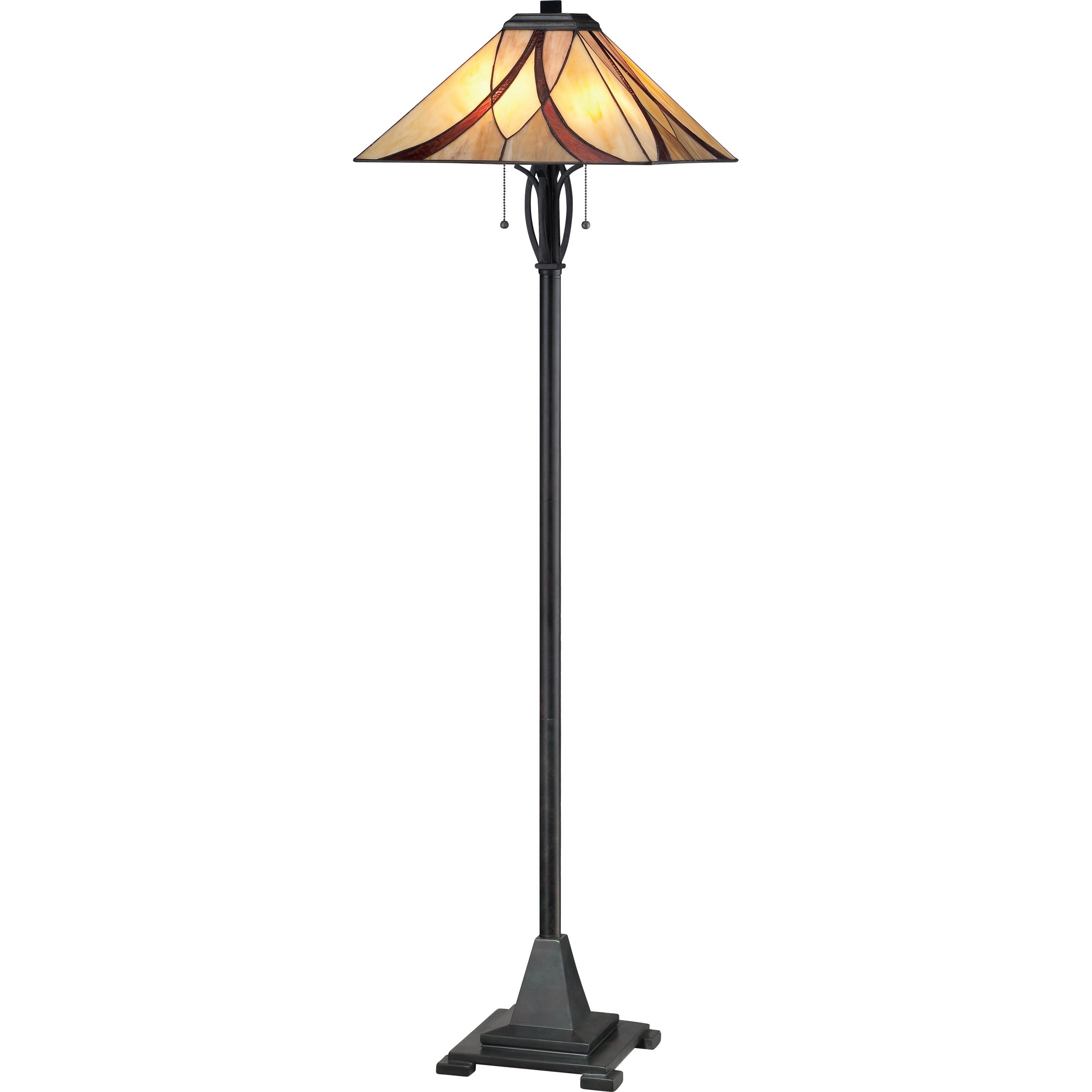 Quoizel Asheville 2-light Valiant Bronze Tiffany-style Floor Lamp